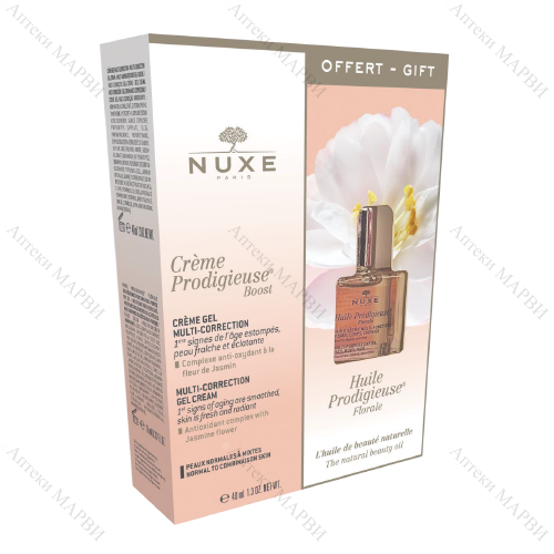 NUXE Creme Prodigieuse Boost Гел-крем 40 мл./ Мултифункционално сухо масло 10 мл.