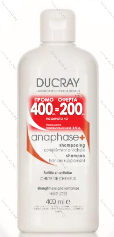 DUCRAY Anaphase+ Шампоан против косопад 400 мл.