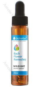 Bioherba Bach Flower Remedies, Капки на Бах - Wild Oat / Див овес, 20 мл.