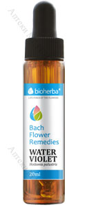 Bioherba Bach Flower Remedies, Капки на Бах - Water Violet / Хотония, 20 мл.