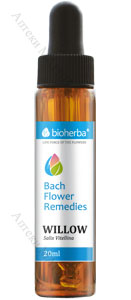 Bioherba Bach Flower Remedies, Капки на Бах - WILLOW / ВЪРБА, 20 мл.