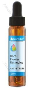 Bioherba Bach Flower Remedies, Капки на Бах - АНТИ-СТРЕС, 20 мл.