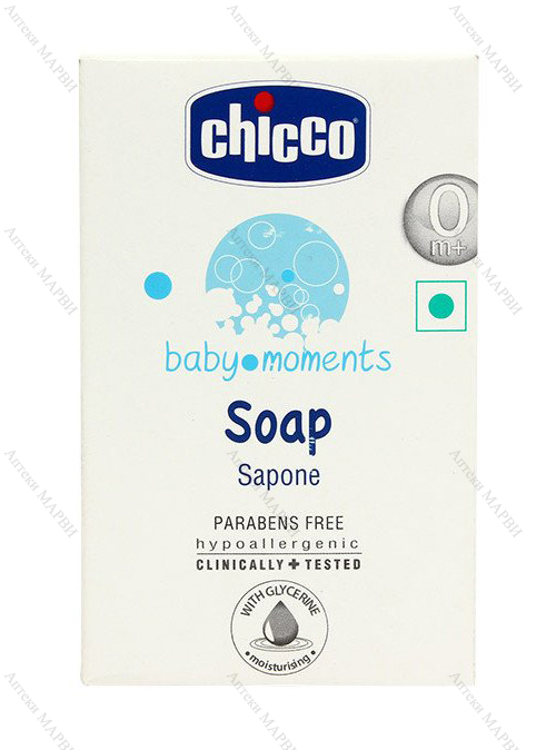 Chicco BABY MOMENTS, Бебешки сапун, 100 гр.