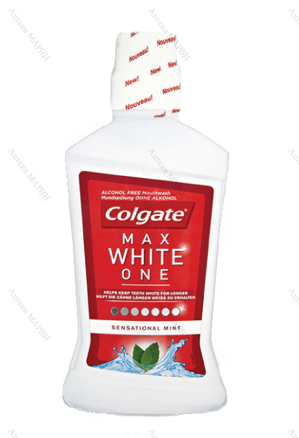 ПРОМО Colgate Max White One, Вода за уста, 500 мл.