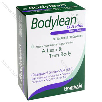 Health Aid, Bodylean CLA Plus / Бодилийн КЛА Плюс - за слабо и стегнато тяло, 30 табл. + 30 капс.