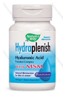 Nature's Way, Hydraplenish / Хидраплениш & MСM, 750 мг., 30 капс.