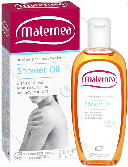 Maternea Shower Oil / Матернеа, Душ олио - с пантенол, 210 мл.