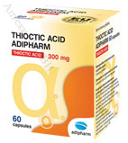 Adipharm, Thioctic Acid - алфа липоева киселина, 60 капс.
