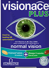 Vitabiotics, Visionace Plus - за здрави очи и добро зрение, 28 табл. + 28 капс.